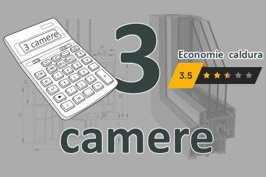 Calculator termopane 3 camere