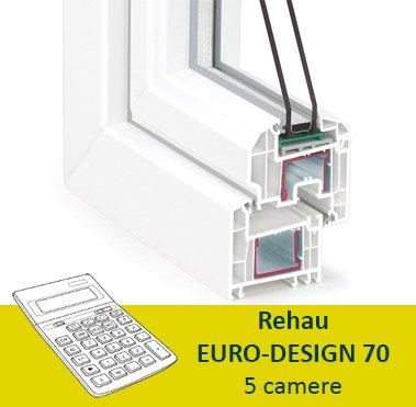 Termopane Rehau Euro design 70 5 camere